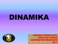 kuliah-dinamika lengkap - Universitas Brawijaya