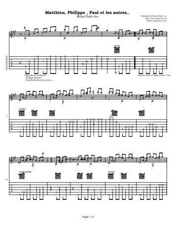Matthieu, Phillippe, Paul et les atures - Acoustic Fingerstyle Guitar