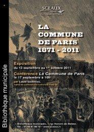 1_Livret d' exposition- la Commune HD - Bibliothèque municiaple ...