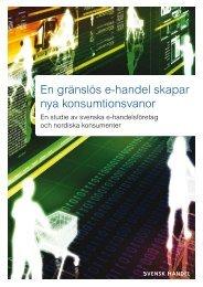 E-handelsrapport 2008 - Svensk Handel