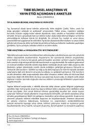 tıbbi bilimsel araştırma ve yayın etiği açısından e-anketler