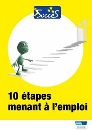 10 étapes menant à l'emploi