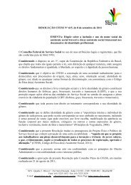 Resolução CFESS nº 615/2011