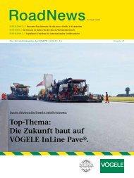 Top-Thema: Die Zukunft baut auf VÖGELE InLine Pave®.