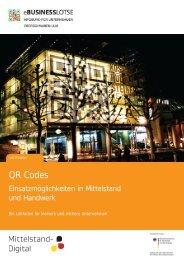 QR Codes - eBusiness-Lotse Oberschwaben-Ulm