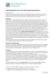 Informationen zu den Reglementen - Kantonsschule Küsnacht