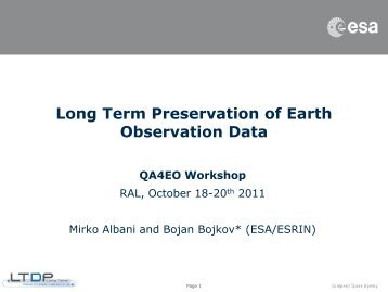 Bojan Bojkov, ESA - QA4EO