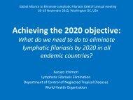 LF Strategic Plan - Global Alliance to Eliminate Lymphatic Filariasis