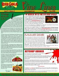 August 2008 Vine Lines Newsletter - Red Gold