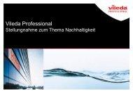 Unternehmerische Sozialverantwortung (CSR) - Vileda Professional