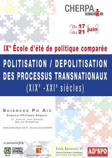 Programme et textes à télécharger - Sciences Po Aix