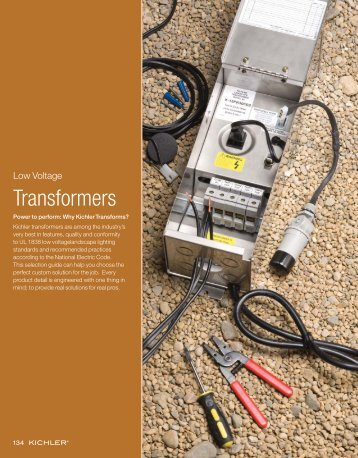 transformers brochure - LED Lighting