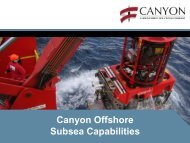 Company Update Canyon Offshore Subsea Capabilities
