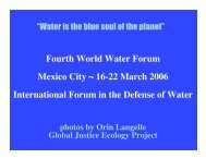 Fourth World Water Forum Mexico City ~ 16-22 March 2006 ...