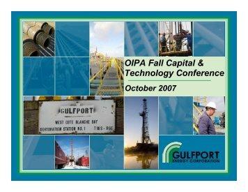 GPOR OIPA Oct 07 POST
