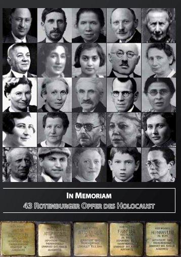 IN MEMORIAM - Stolpersteine für Rotenburg - Hassia Judaica