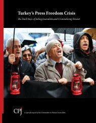 Turkey's Press Freedom Crisis - Committee to Protect Journalists