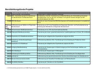 Liste der durch den BBF unterstützten Projekte 2009 - SMU