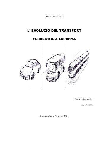 evolució del transport terrestre a espanya - Premis Universitat de Vic ...