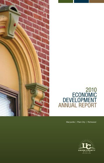 2010 Economic DEvElopmEnt AnnuAl REpoRt - Union County ...