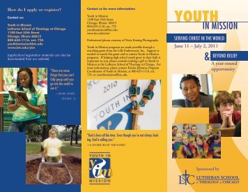 Contact Us For More Information - Youth in Mission - Lutheran ...