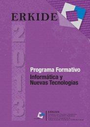 Programa Formativo Informática y Nuevas Tecnologías - Erkide