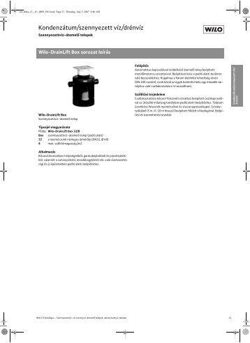 WILO DrainLift Box termékismertető