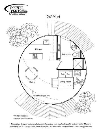 20 free magazines from yurts com for Yurt building plans