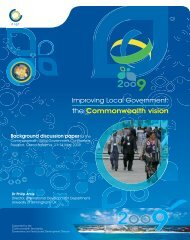 Improving local government: the Commonwealth vision
