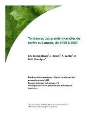 Tendances des grands incendies de forêts au Canada, 1959 ... - ipbes