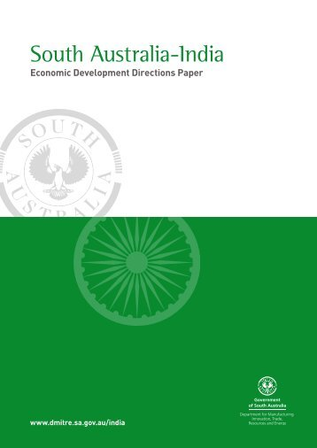 Download the India Directions Paper - DMITRE - SA.Gov.au