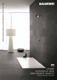 Cenník kúpeľňové vane sprChovaCie vaničky - AQUATERM