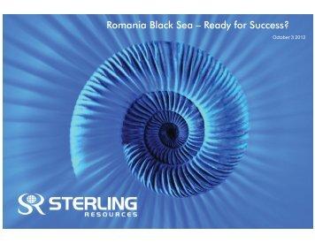 Romania Black Sea – Ready for Success? - Petroleumclub.ro