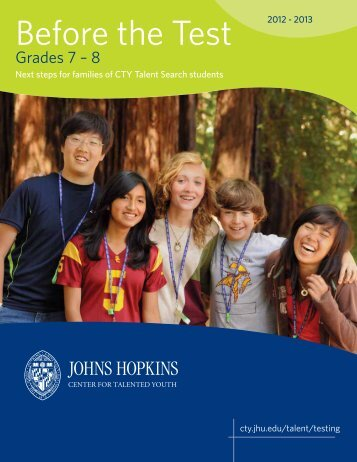 Grades 7-8 - Johns Hopkins Center for Talented Youth - Johns ...