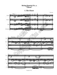 Tim Jansa - String Quartet #2 - Full Score