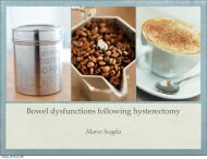 Bowel dysfunctions following hysterectomy