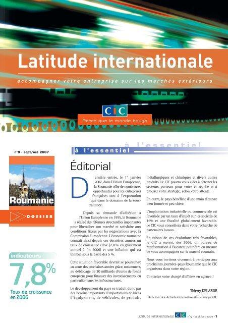 Latitude Internationale n°9 - CIC