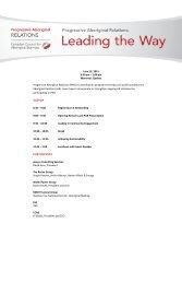 1:00 pm Montreal, Quebec Progressive Aboriginal Relations (PAR)