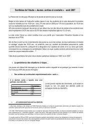 Jeunes, sorties et conduite - Association Prévention Routière