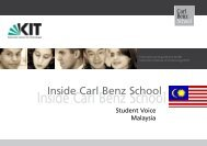 Read the full interview - the Carl Benz School - KIT