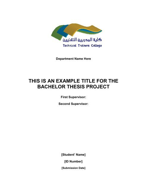 Bachelor Thesis Project