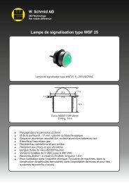 Lampe de signalisation type WSF 25