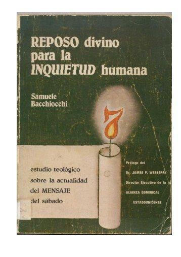 Reposo Divino (Bacchiocchi) - Ptr. Arturo Quintero