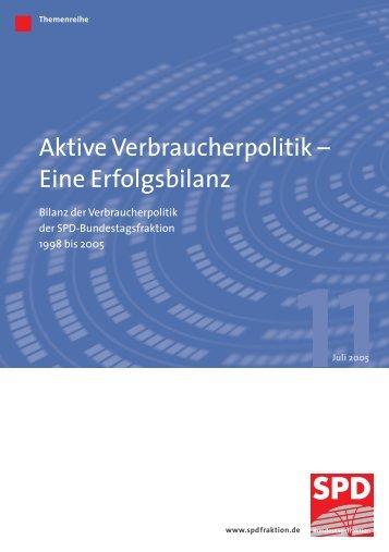 Aktive Verbraucherpolitik – Eine Erfolgsbilanz