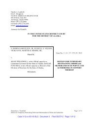Motion for Temporary Restraining Order and Memorandum of Points ...