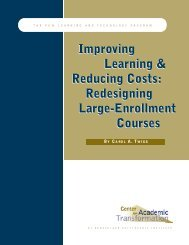 Improving Learning & Reducing Costs - National Center for Academic