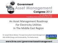 An Asset Management Roadmap For Electricity Utilities ... - DNV Kema