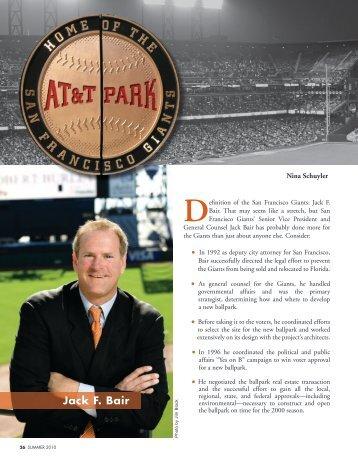 Jack F. Bair - The Bar Association of San Francisco
