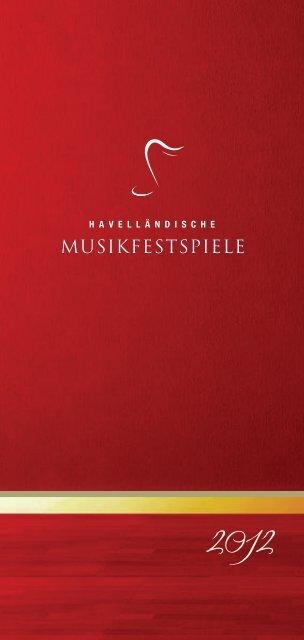 Download Programmheft 2012 - Havellaendische Musikfestspiele
