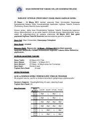 İNGİLİZCE YETERLİK (PROFICIENCY EXAM ... - Okan Üniversitesi